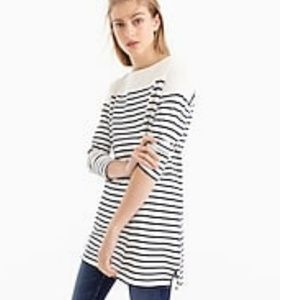 💥 J. Crew  Striped Boatneck Tunic With Pockets